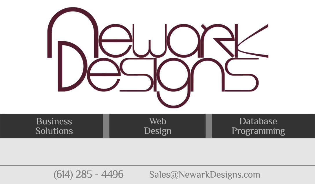 Call NewarkDesigns at 614-285-4496 for all your Graphic Design Needs